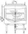 Резервуар вертикальный с подогревом электричеством РВПЭ 0.5.2Т.К.5.0.Л
