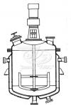 Реакторы цельносварные с рамными мешалками и нижними спусками продукта
