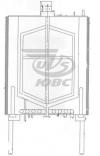 Резервуар вертикальный с паровым и электрическим нагревом РВППЭ-0,3-3Т.К.65Р