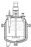 Реакторы цельносварные с пропеллерными или турбинными мешалками и трубами передавливания
