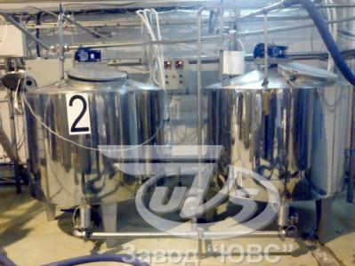 Резервуар для созревания сливок и производства кисломолочных продуктов