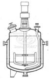 Реакторы цельносварные с рамными мешалками и трубами передавливания